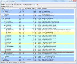 Screenshot Process Hacker