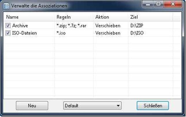 Dateien und Verzeichnisse sortieren mit DropIt