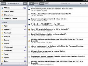 RSS News Reader - Feeddler iPad Version