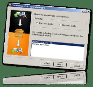 MozBackup - Backup von Mozilla Programmen