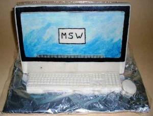Essbarer Computer aus Marzipan