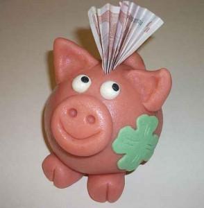Glücksschwein aus Marzipan