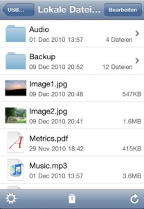 Screenshot iPhone App USB Disk