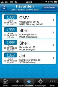 Screenshot mehr-tanken.de App