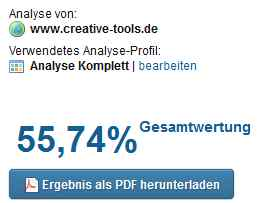 Screenshot seitenreport.de