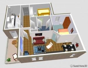 Wohnung am PC einrichten - Sweet Home 3D
