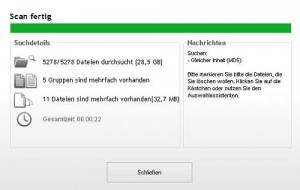 Screenshot Duplicate Cleaner - Ergebnisse