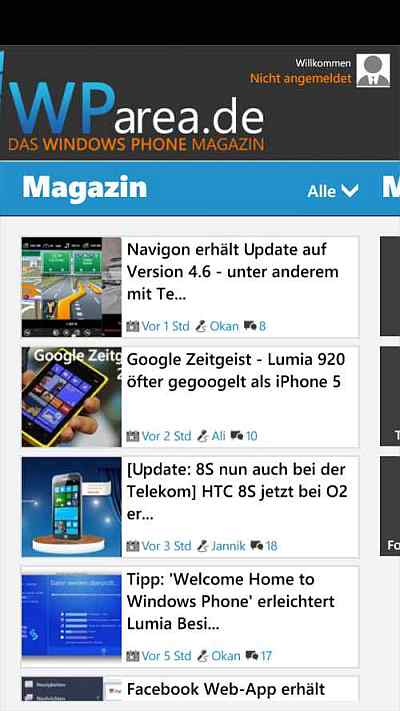 Apps für Windows Phone - WParea.de