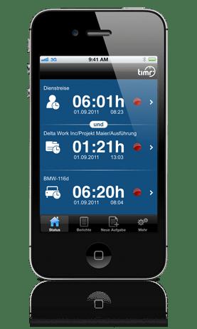 Mobile Zeiterfassung