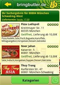 Pizza mit dem Smartphone bestellen