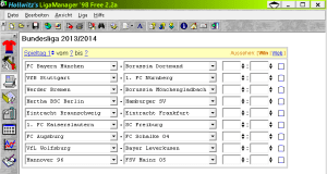 Ligamanager 98 Free - Ergebniseingabe
