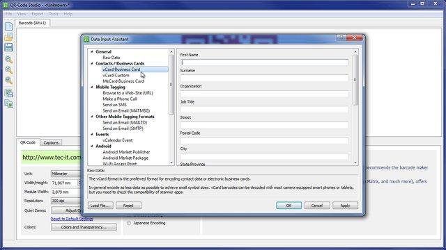 Kostenlose QR-Codes erstellen mit QR-Code Studio von TEC-IT