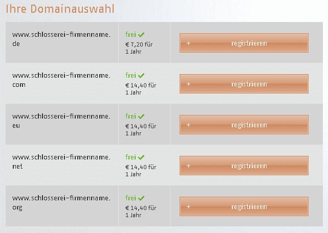 Ist die Domain noch frei? Sekundenschnelle Prüfung und sofortige Möglichkeit zur Registrierung