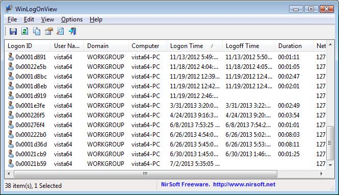 Windows Anmeldezeiten auslesen