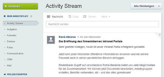 Intranet in der Cloud - Bitrix24