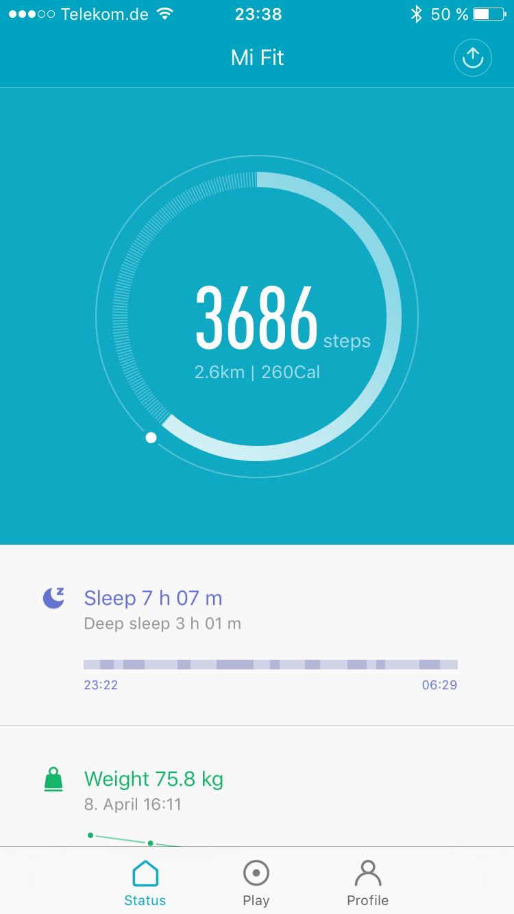 Günstiger Fitness Tracker - Xiaomi Mi Band